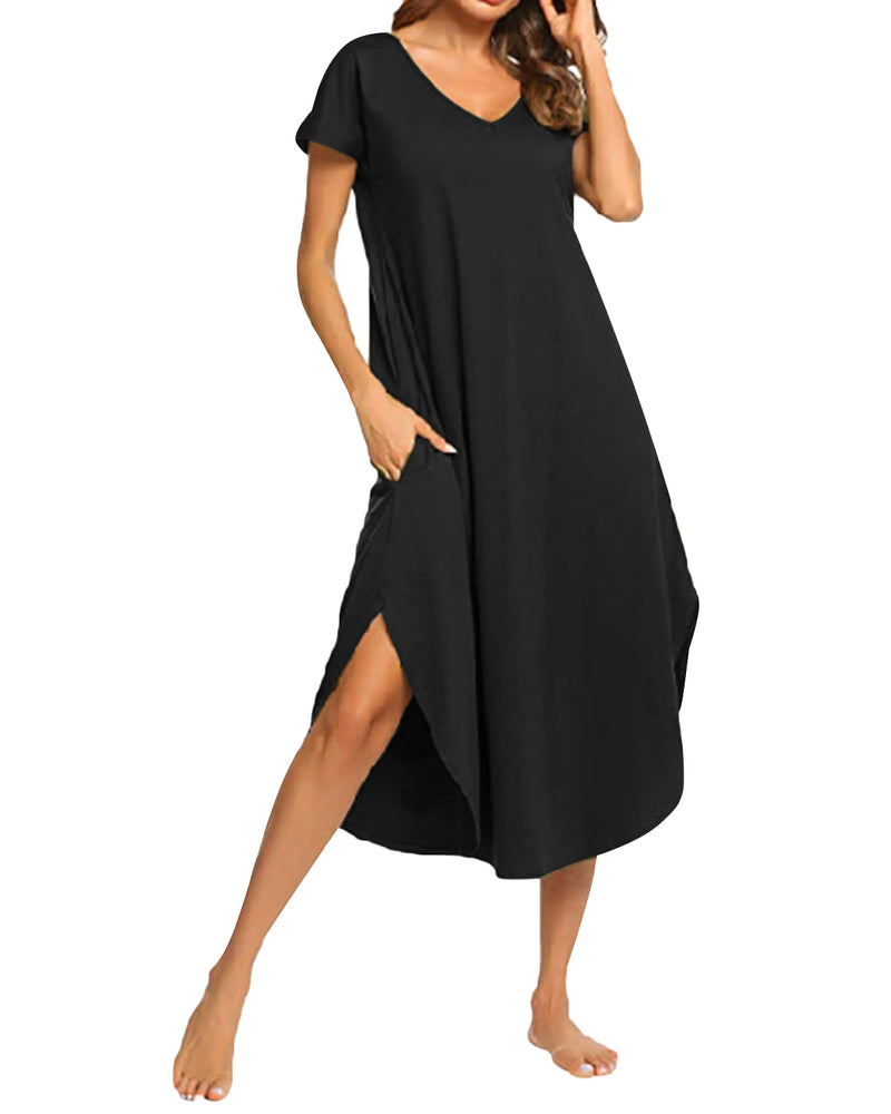 Women's Pyjama Short Sleeve Irregular Hem Sleepwear - Coendy