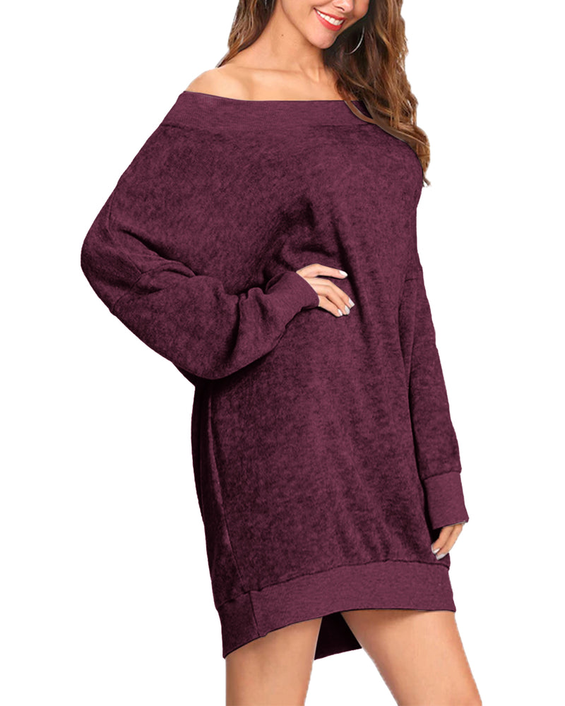 Women Tops Oversized Loose Fit Tunic Shirts - Coendy
