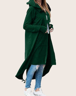 Women Long Hoodies Solid Color Sweatshirt - Coendy