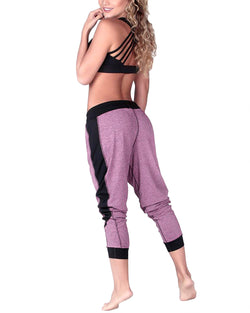 Women's Color Block Workout Sweatpants with Pockets