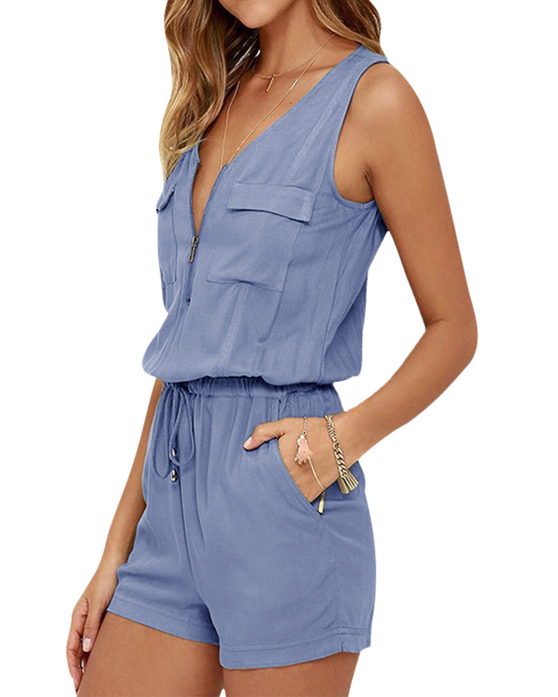 Women Rompers Summer Playsuits Short Jumpsuits - Coendy