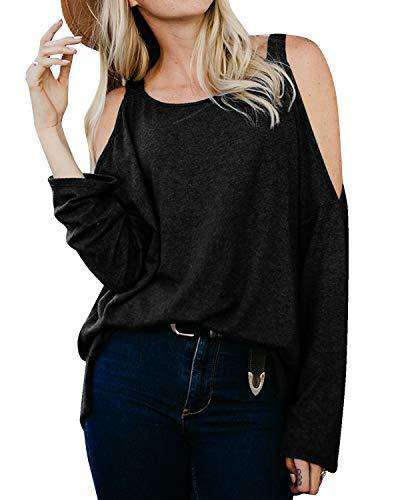 Women Cold Shoulder Tops Casual Blouse Shirts - Coendy