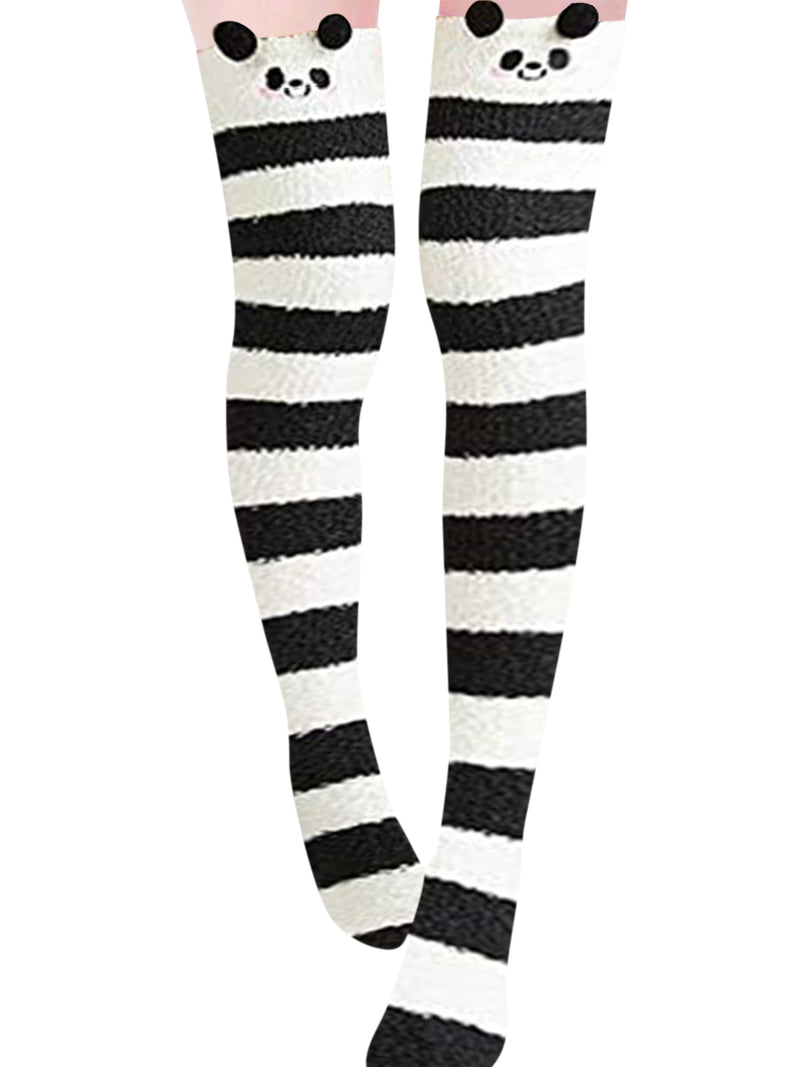 Womens Over Knee Thigh High Animals Shape Socks