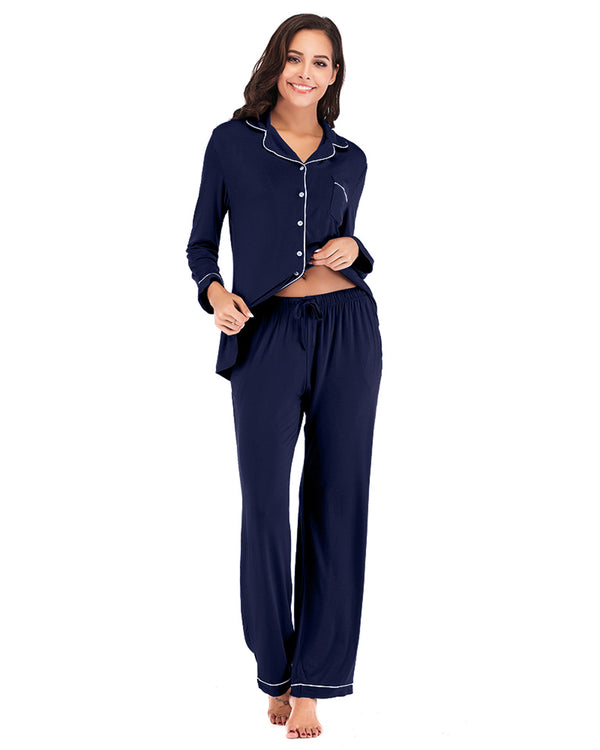 Women Long Sleeve Sleepwear Pajamas Set - Coendy