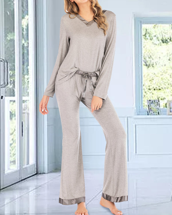 Women Sleepwear Button Down Loungewear Sets - Coendy