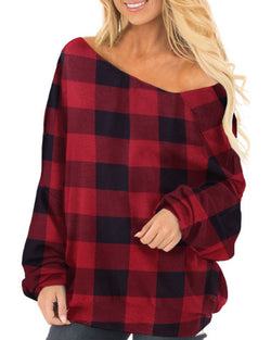 Womens Off The Shoulder Baggy Blouse