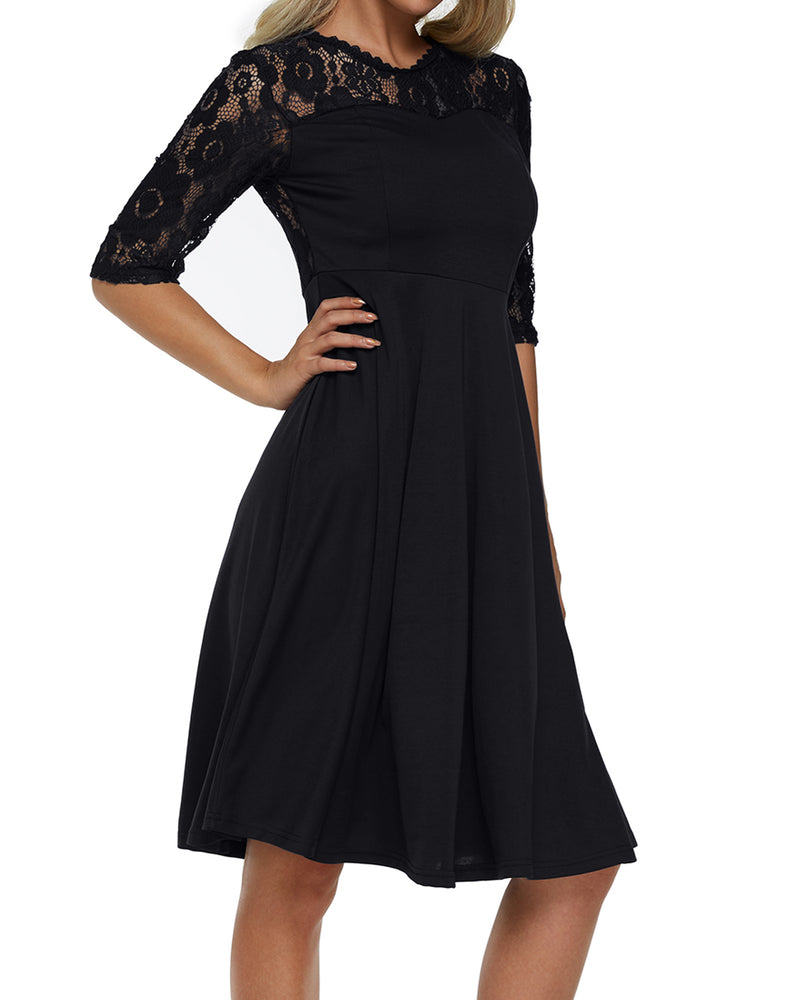 Women Lace Party Wedding Bridesmaid Evening Dress - Coendy