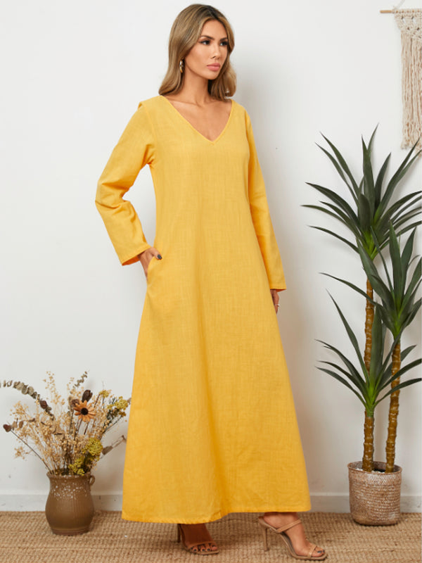 Women Pullover Oversize Irregular Loose Long Dress - Coendy