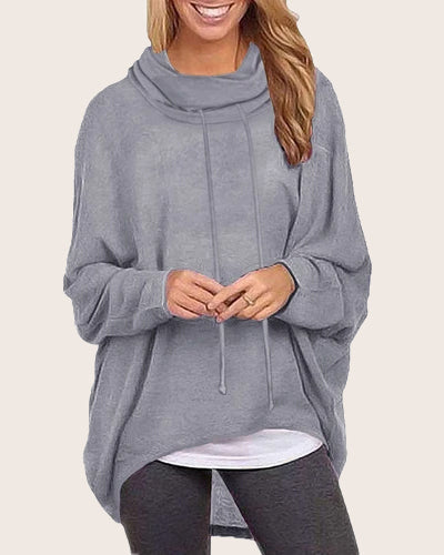 Women Tops Batwing Oversized Baggy Casual T-Shirt - Coendy