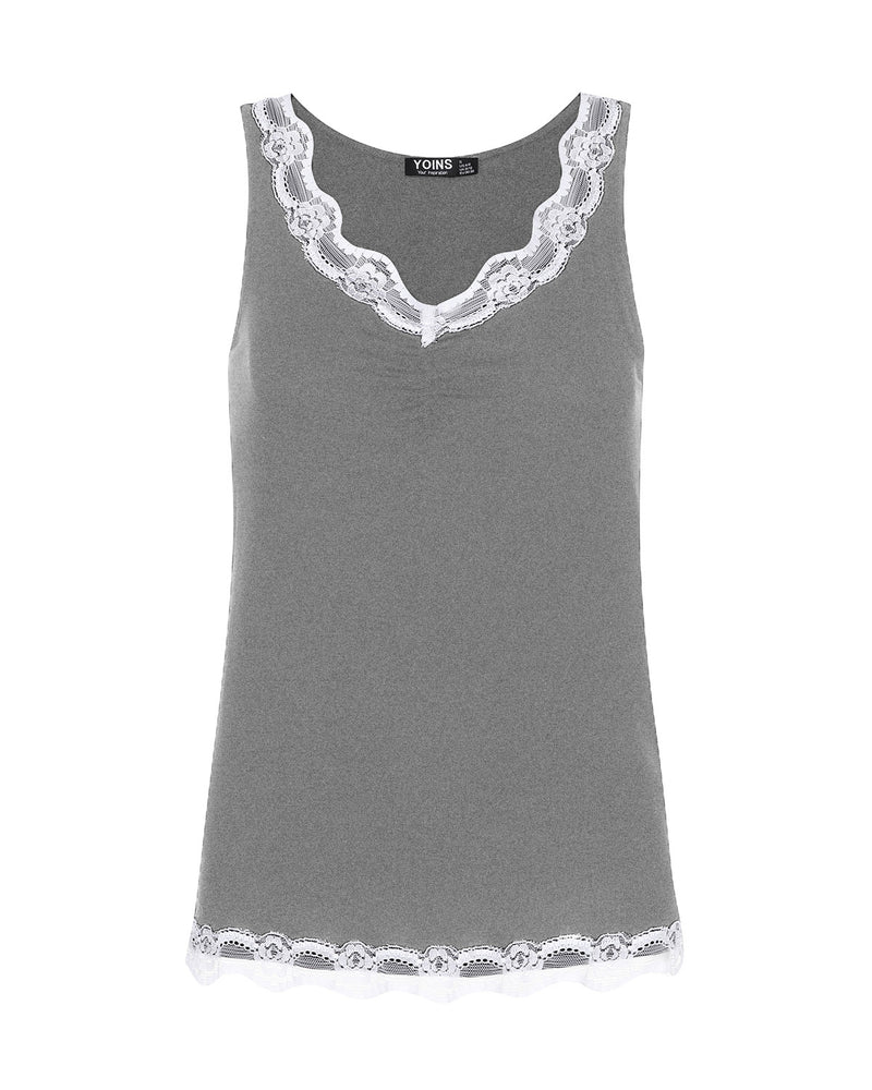 Women Cami Tank Tops Sexy V Neck Sleevless Slimming Lace