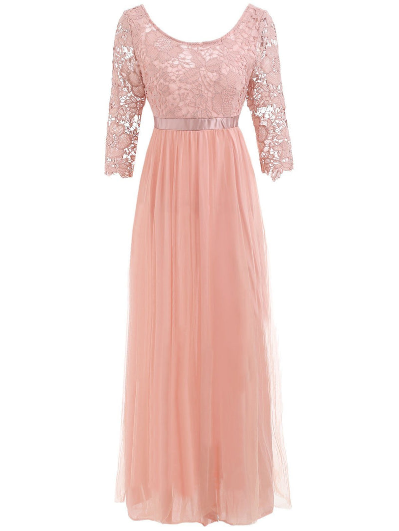 Women Lace Elegant Cocktail Party Evening Dress - Coendy
