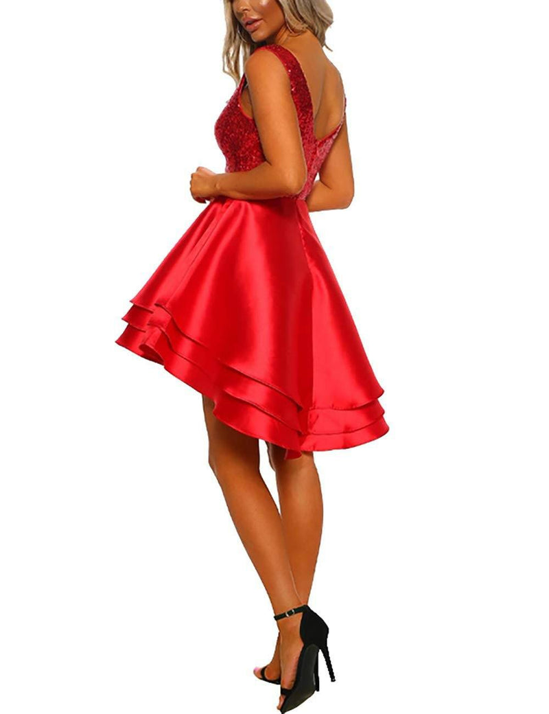 Women Christmas Dress  A Line Vintage Cocktail  Dresses - Coendy