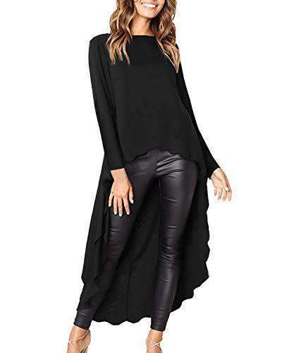 Women Long Asymetrical Casual Tunic - Coendy