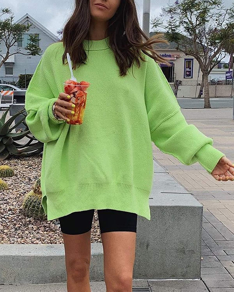 Women Sweaters Oversized Knit Pullover - Coendy
