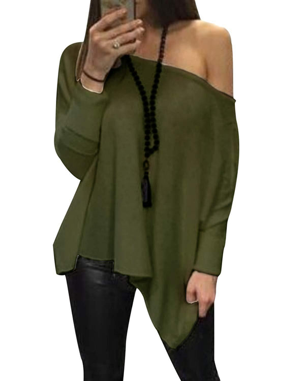 Women Tops Oversized Loose T-Shirt - Coendy