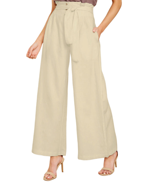Women Wide Leg Pants High Waisted Casual Trousers with Pockets