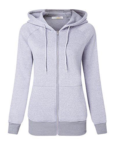 Women Hoodie Sweater Zip up Coat - Coendy