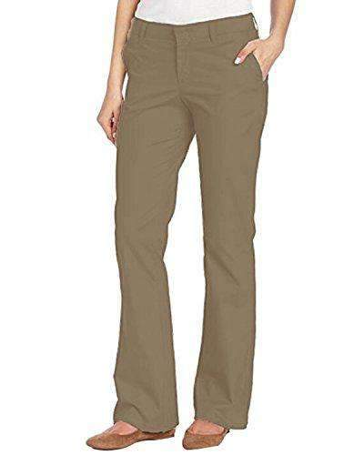 Kidsform Women Pants Slim Fit Classic Trousers BOTTOMS Coendy Khaki X-Large