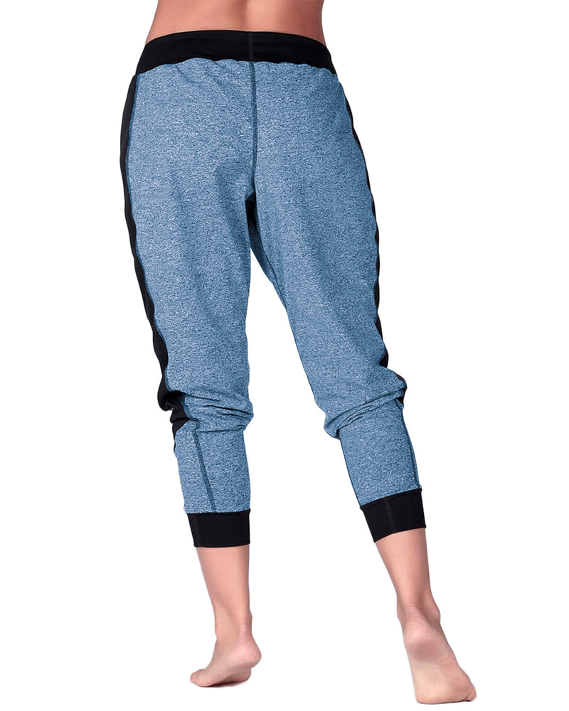 Women's Color Block Workout Sweatpants with Pockets - Coendy