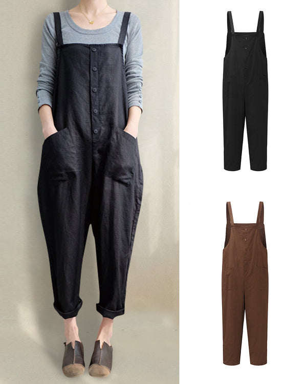 Women's Strappy Jumpsuits Overalls Casual Harem Pants - Coendy