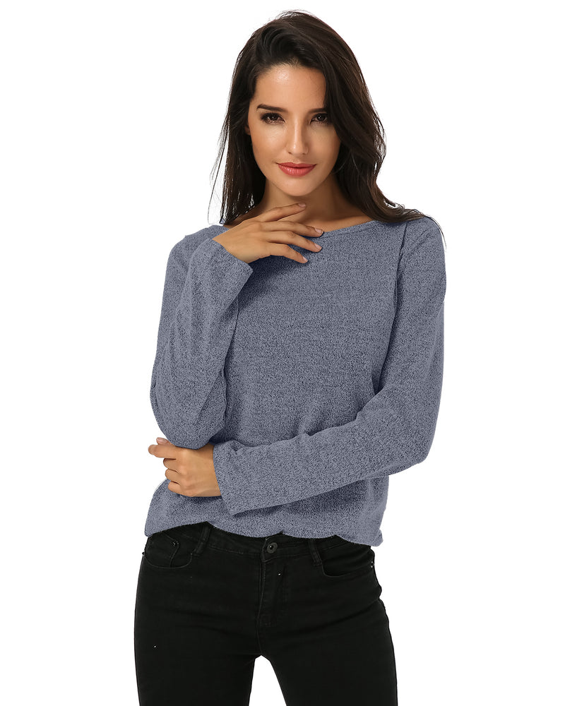 Women's Casual Loose Lightweight Knit Tops