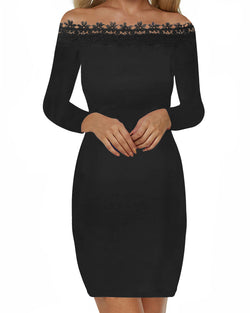 Women Floral Lace Vintage Dress - Coendy