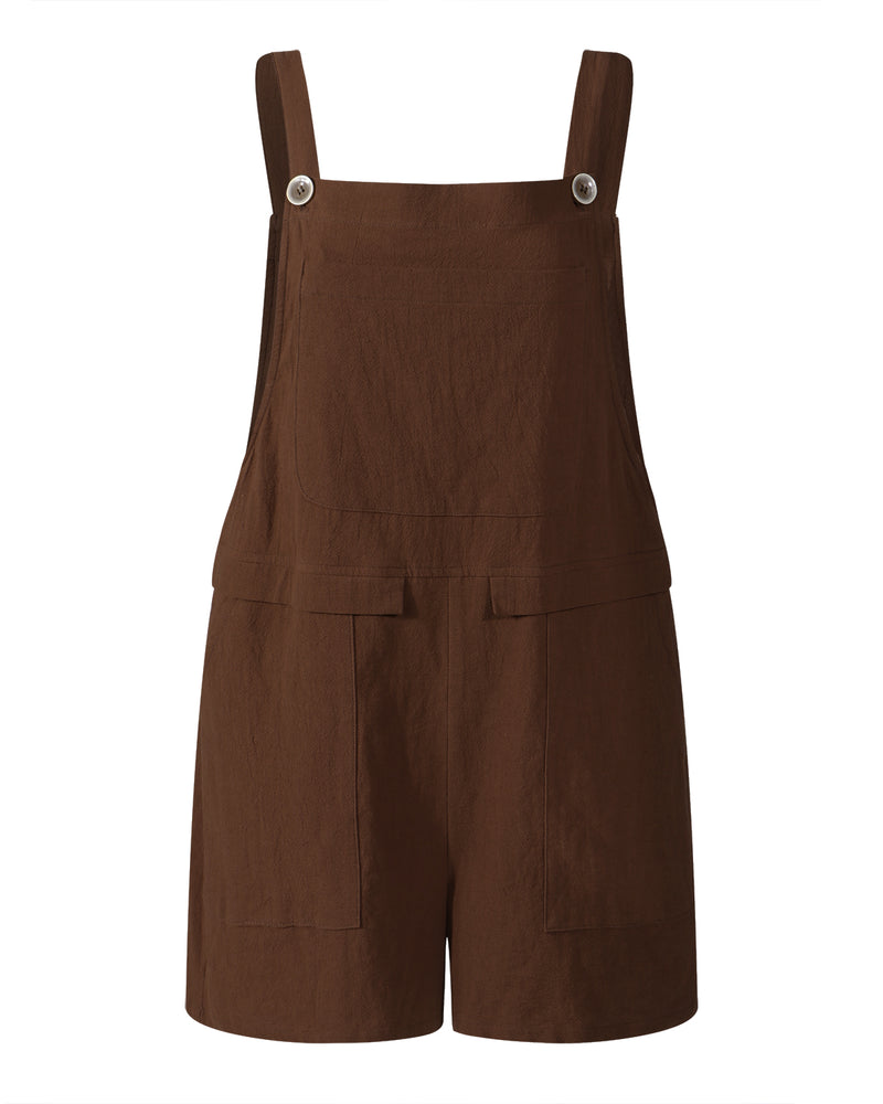 Women's Cotton Linen Casual Wide Leg Harem Overall