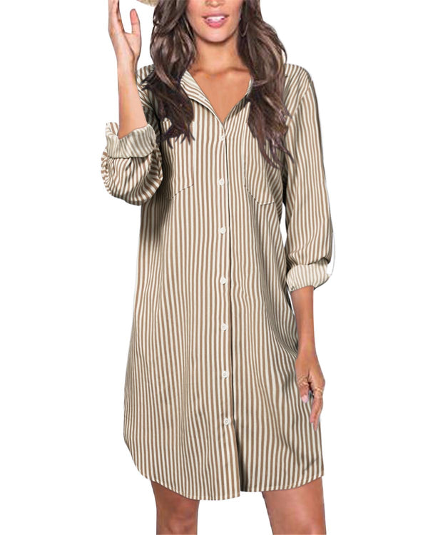 Women Casual Shirt Button Down Tunic Beach Cover Up Shirt