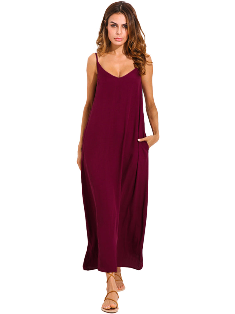 Women Maxi Dress Casual Long Dress Oversized Sundress Plus Size - Coendy