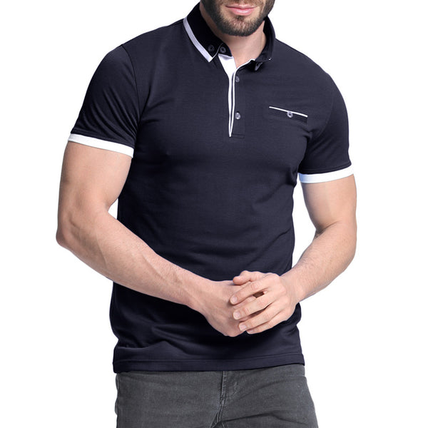 Men's Casual Slim Short Sleeve Collar Polo Shirt - Coendy