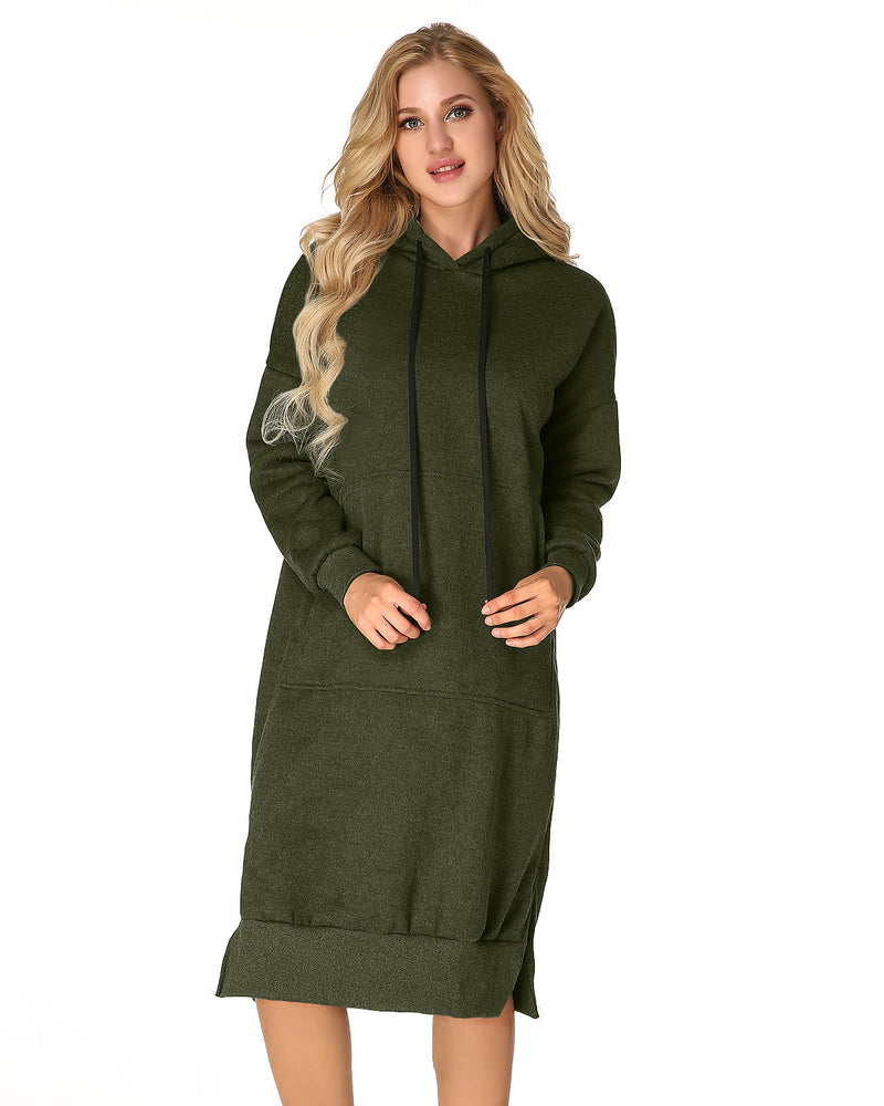 Women's Hoodies Jumper Long Sleeve Casual Maxi Dress