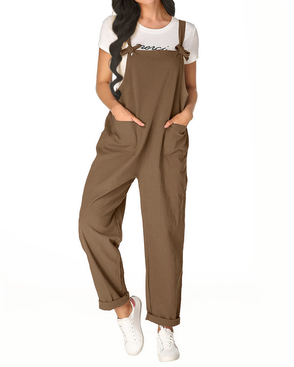 Women's Plus Size Overall Casual Loose Pants