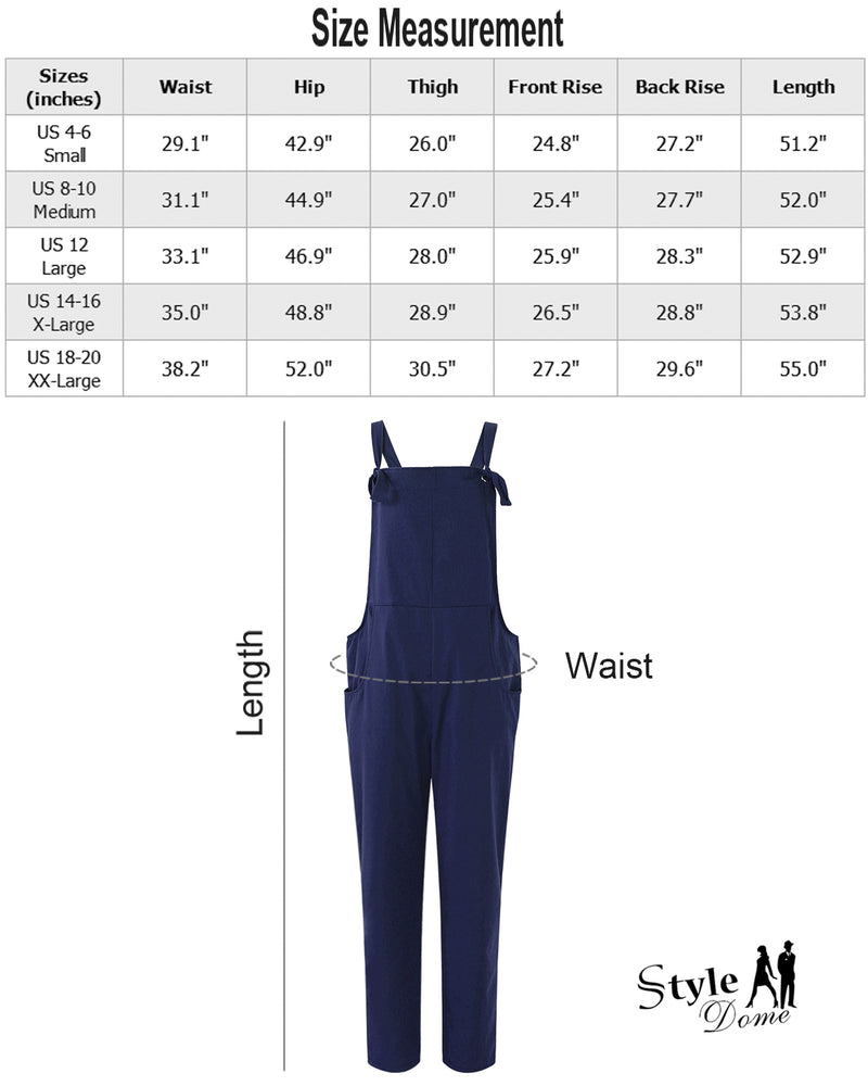 Women Overall Strappy Jumpsuit Trousers - Coendy