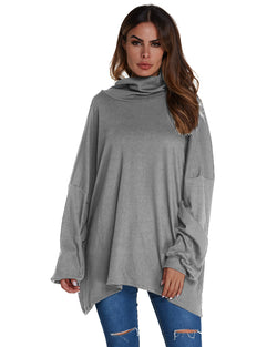 Women's Causal Batwing Sleeve Loose Sweater Tops