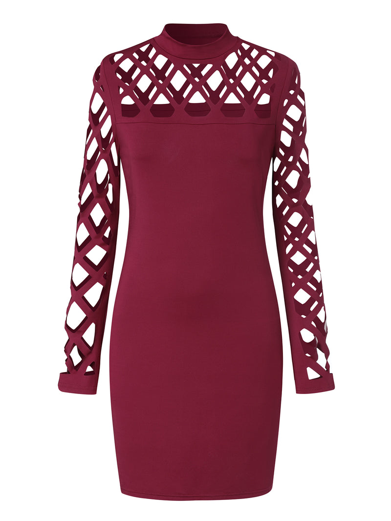 Women Sexy Party Cocktail Dresses Hollow Design Bodycon Mini Dress