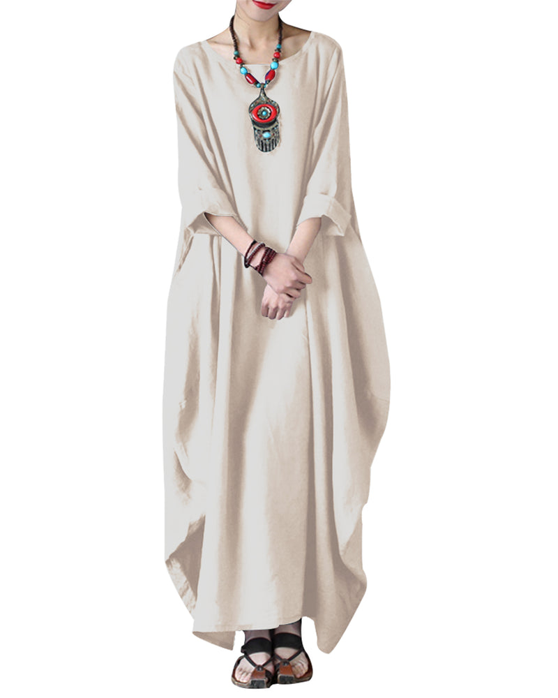 Women's Maxi Dresses Kaftan Loose Long Dress - Coendy