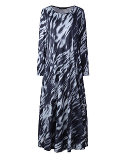 Women Casual Dresses Tie Dye & Color Block Maxi Dress