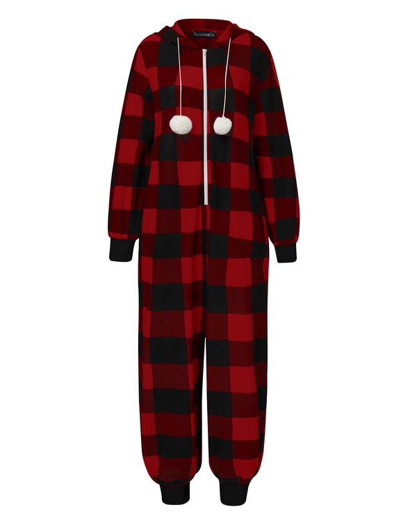 Womens Pajamas Onesie Sleepwear Jumpsuit Loungewear Christmas Halloween