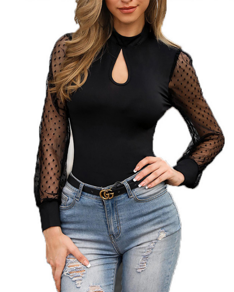 Sexy Tulle Mesh Blouse Transparent Chic Party Tops