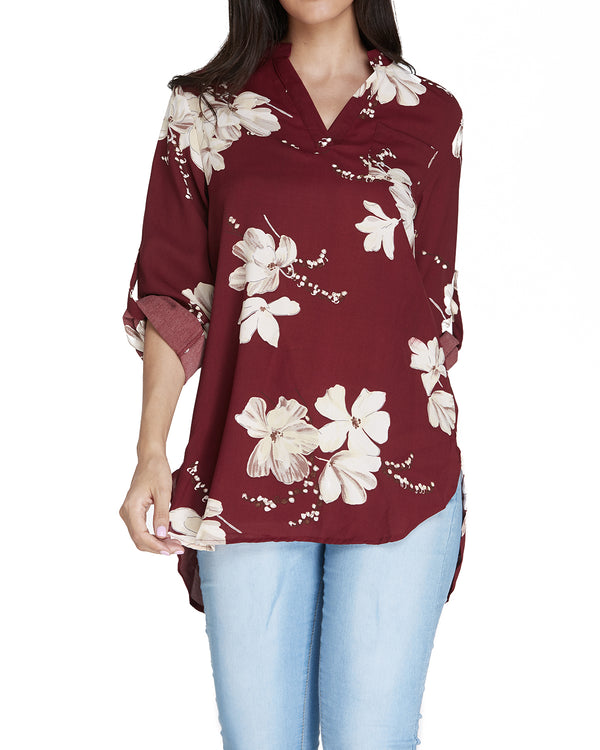 Women's Chiffon Casual Floral Blouses - Coendy
