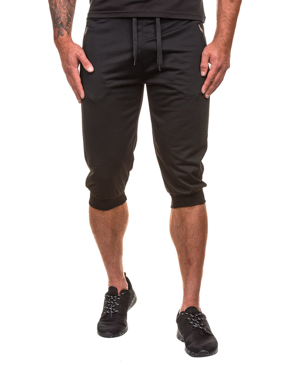 Men's 3/4 Jogger Capri Pants Sport Elastic Sweatpants - Coendy
