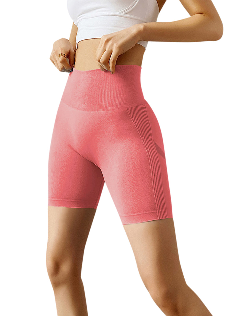 Women Yoga Sport Solid Color Slim Short