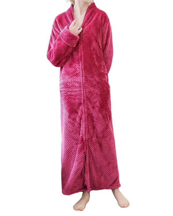 Sunnyme Women Long Robes Soft Warm Flannel Sleepwear BOTTOMS Coendy