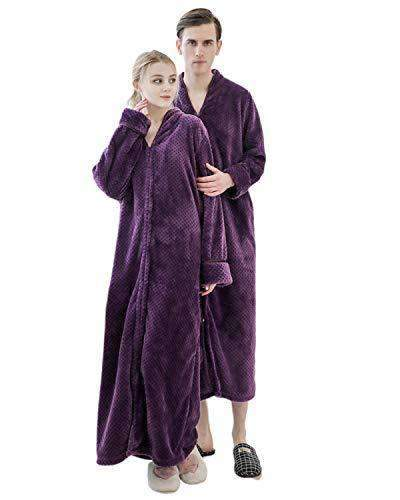 Women Long Robes Soft Warm Flannel Sleepwear - Coendy
