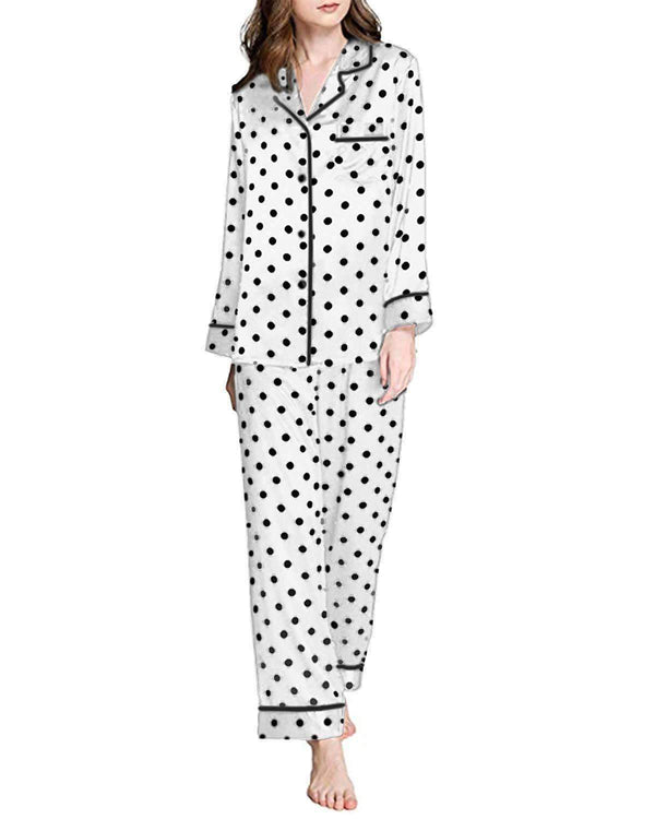 Women Pajamas Button Down Sleepwear - Coendy