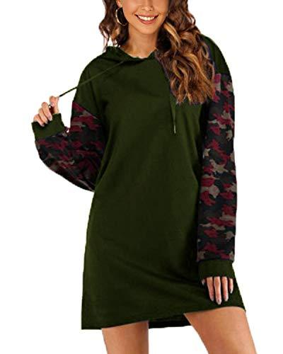 Sunnyme Women Pullover Drawstring Sweatshirt Hoodie COATS Coendy Z-army Green Small