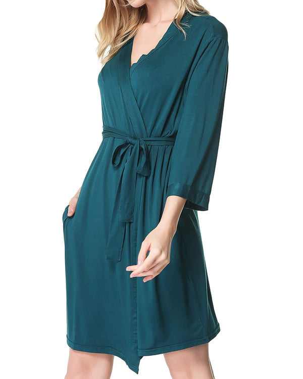Womens Kimono Robes Soft Sleepwear - Coendy