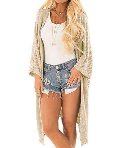 Women Casual Loose Open Front Knit Cardigan - Coendy