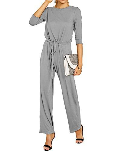 Women Elastic High Waist Casual Romper - Coendy