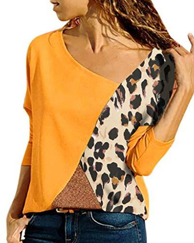 Women Tops Casual Shirts Patchwork Tunic Blouses - Coendy
